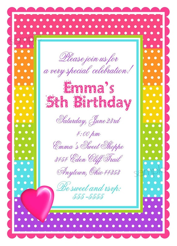 sweet shoppe invitations, candy birthday party invitations, pop, Birthday invitations