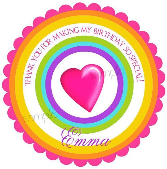 Sweet Shoppe Stickers, Rainbow Pop candy , Birthday party,  favor stickers, Labels,  Birthday, Children, Kids, party, set of 12