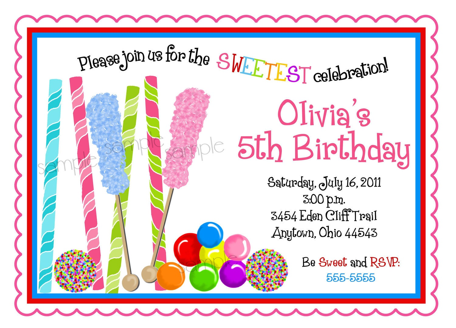 Pictures of Candy Party Invitations - www.kidskunst.info