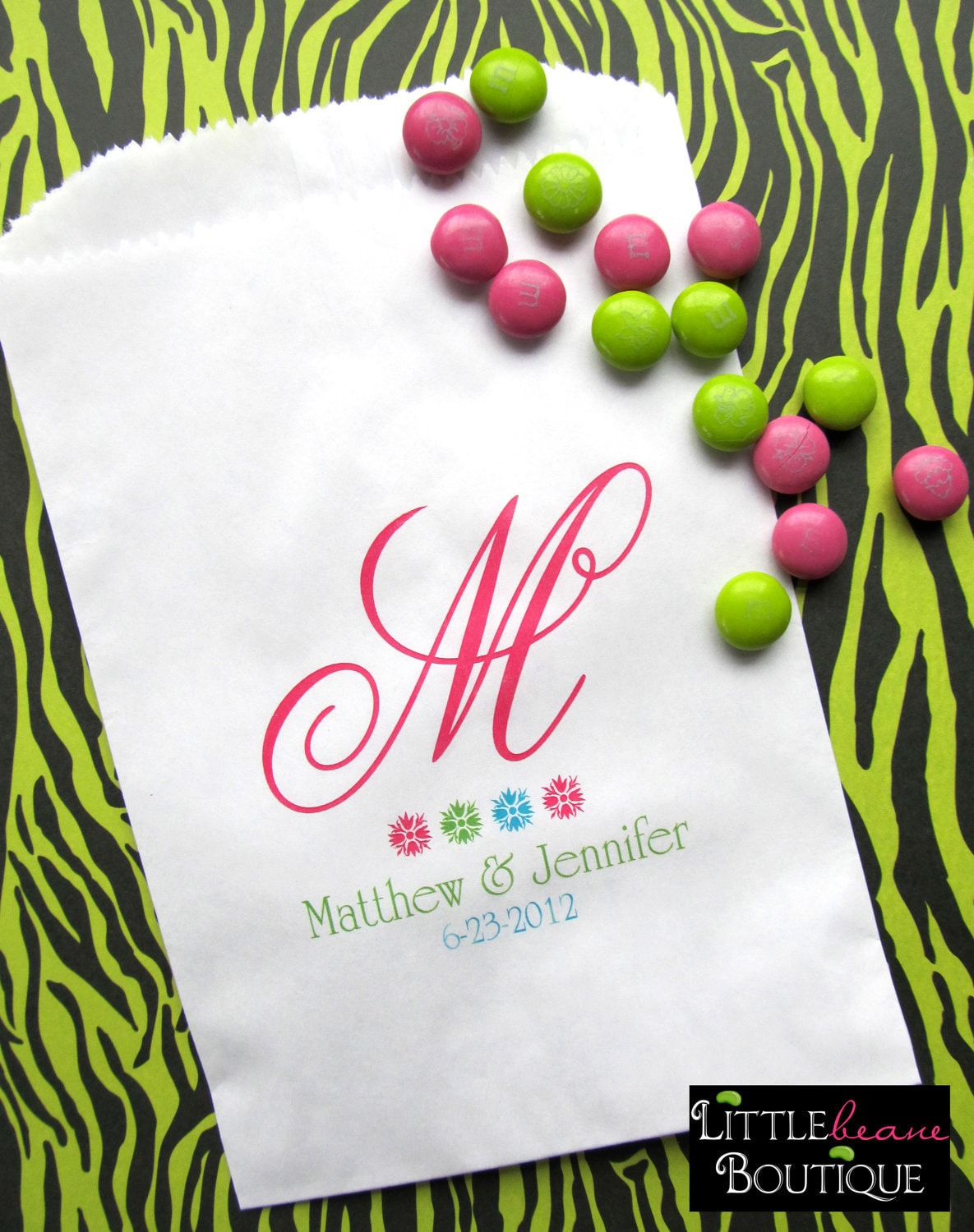 Wedding Favor Bags For Candy : Wedding Favor Bags Monogram Favor bags Candy buffet bags