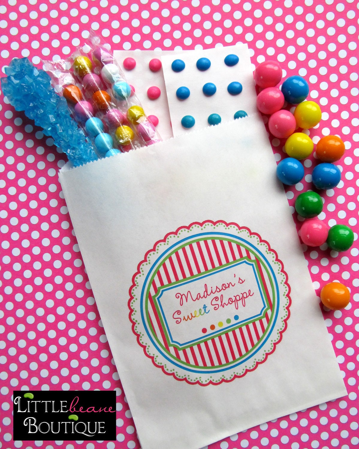 Personalized Candy Bags Candy Favor bags Candy Buffet bags