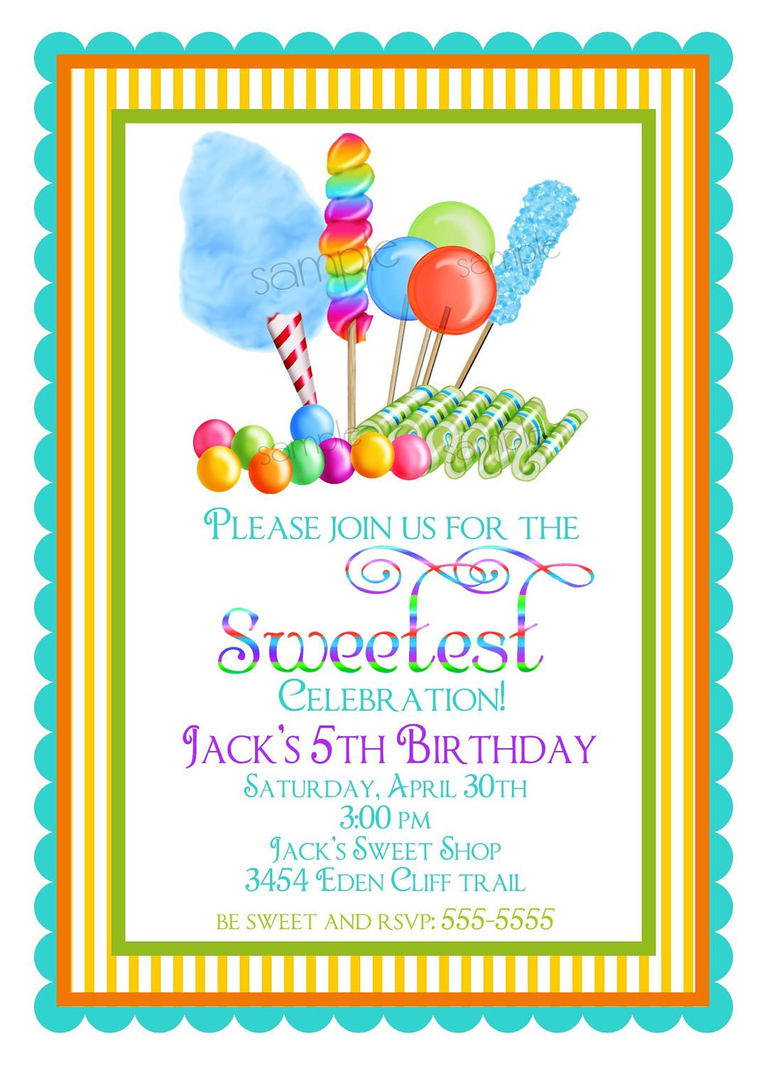Candyland Party Invitations with beautiful invitations sample
