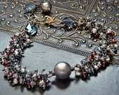 Payment 3 of 3 - Theodora - Mixed Metal and Multi Gemstone Fringe Bracelet - RESERVED