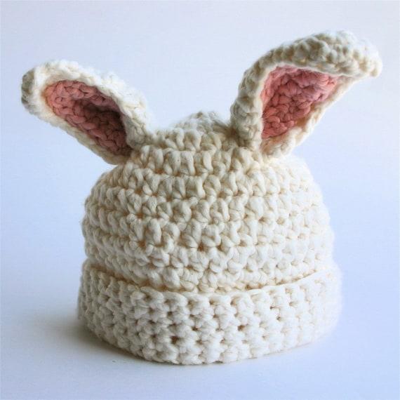 Organic Cotton Baby Hat - White Chocolate Bunny