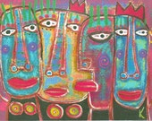 ACEO Limited Edition Print Created From My Original Painting Happy Royal Family