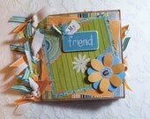 Friend Paper Bag Album 6x 6 mini album scrapbook