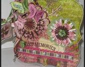 Mixed Media Chipboard Mini Album 6 x 6 Bright Colors - Sweet Memories Scrapbook