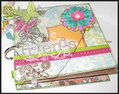 6 x 6 Friends Mixed Media Scrapbook Album Chipboard Bright Colors