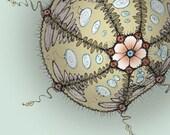 Sassy Sea Urchin - 5x5 Print