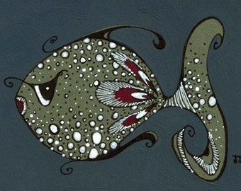 Spotted Eddie... yes, he's a cutie of a fish - 5x7 fine art print