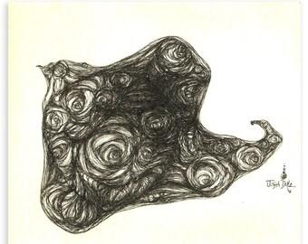 The Dream Bird - Original Drawing
