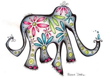 Martha the Elephant (8x10 Fine Art Print)