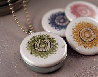 The Amelia Mandala Series (recycled magnetic locket set)
