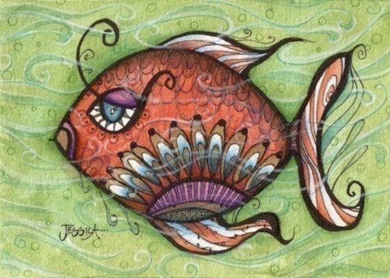 Annabelle, isn't she dreamy - 5x7 cute fish art print