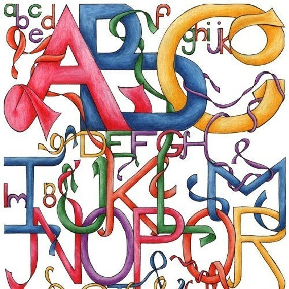ABC (Limited Edition Alphabet 11x14 print)
