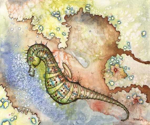The Sultry Seahorse (Limited Edition Archival Fine Art Giclee Print)