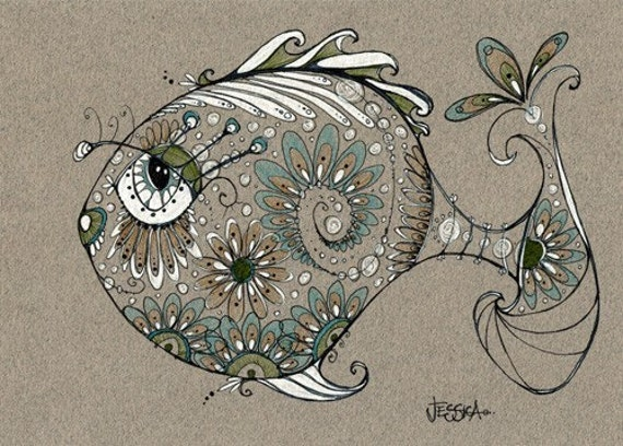 George - yes he's a pretty fish (Print)