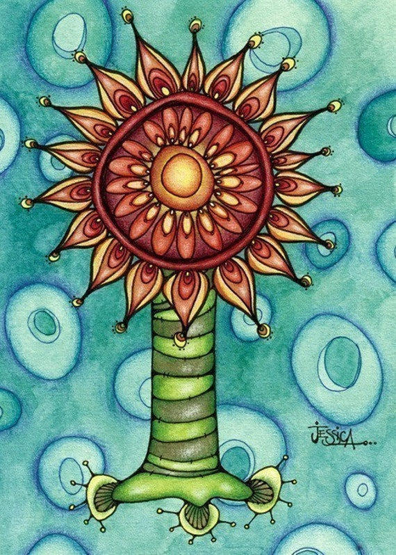 Sunflowering Times (ACEO mini print)