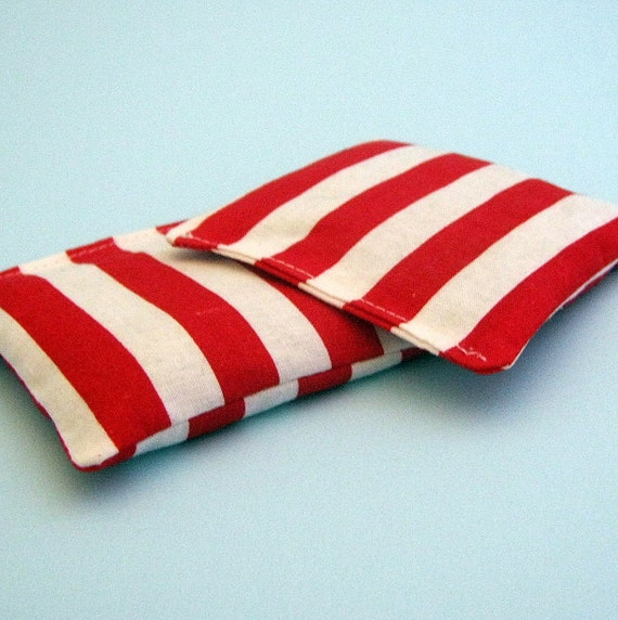 Lavender Sachets Red and White Striped Set of Two