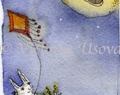 Lonely Kite  ACEO print