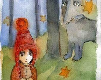 Art Print Little Red Riding Hood