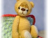 OOAK Thread Crochet Bear Pattern 4 (Head, Muzzle, and Ears in One Piece)by Jessica Lee's Little Creations
