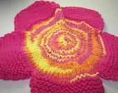 flower wash cloth