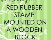 JLMould 2x2 Custom Red Rubber Stamp for Small Business Wedding DIY Project Choose With or Without Handle