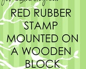 JLMould 4x4 Custom Red Rubber Stamp for Small Business Wedding DIY Project Choose With or Without Handle