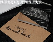 Ready to Ship Buy Handmade Photographer Stamp Please Do Not Bend Photo Photos DYI Wedding Small Business Clear polymer rubber stamp