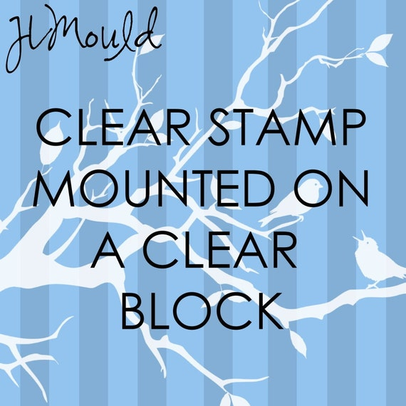 JLMould 2x2 Custom Rubber Stamp Mounted on Wooden Block using your Art or Logo (Clear Polymer)