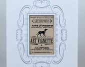 3 WHITE 5X7 Letterpress Vignettes To Mat and Frame Your Photos and Art