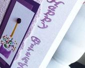 Handmade Birthday Card with Hand Painted Cupcake