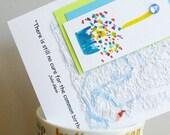 Handmade Greeting Card with Birthday Quote by John Glenn
