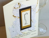 Handmade Greeting Card with Bette Davis Champagne  Quote
