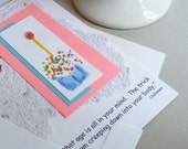 Handmade Card with  Birthday Cupcake and Humorous Quote