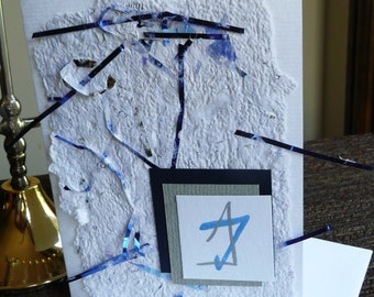 Star of David   Note Cards  with Handmade Paper Set of 6