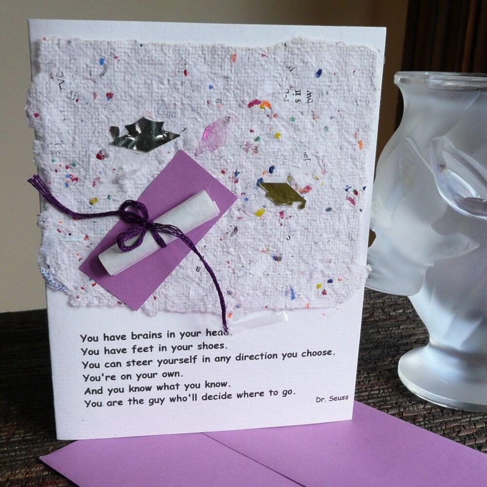 graduation poem by dr  seuss card