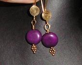 For Debbie - Sugilite and gold vermeil earrings
