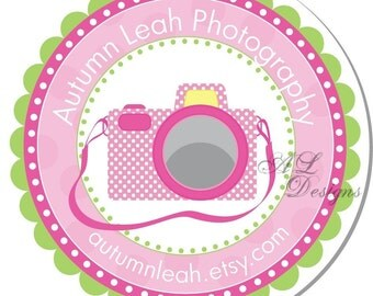 Personalized Photographer Stickers -- Camera -- Address Label, Personalized Labels, Party Favor -- Choice of Size