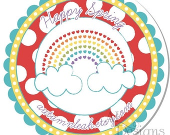 Personalized Rainbow Stickers -- Personalized Address Labels, Personalized Labels, Thank You Stickers -- Choice of Size