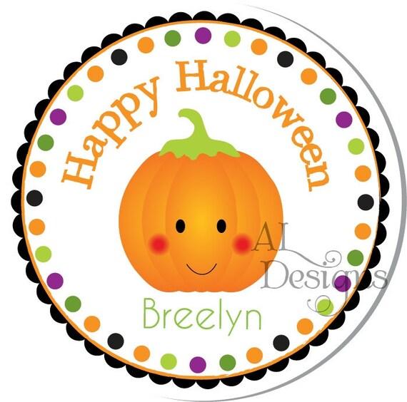 Personalized Halloween Stickers ,, Cute Pumpkin ,, Personalized Stickers, Halloween Labels, Halloween