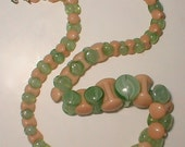 Deco  Bead Necklace - Vintage InterlockingGlass Beaded Choker from the 30's