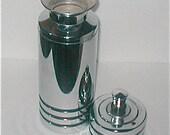 Chase Chromed Cocktail Shaker - Vintage 40s Deco Design