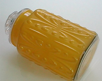 Golden Glass Counter Jar - Sealing Lid- Perfect for Pasta or Grains Storage
