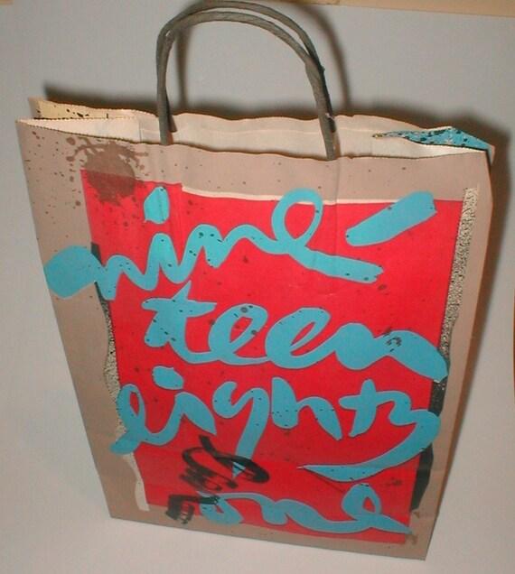 Bloomingdale's Shopping Bag  -  Vintage 1981