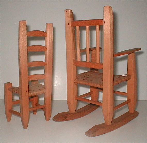 chair and rocker doll size furniture