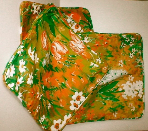 Modern Pillow Cases - Flower Power 60s - Set of 4 Cotton Throw Pillows - Ready to be Stuffed Couch Throws