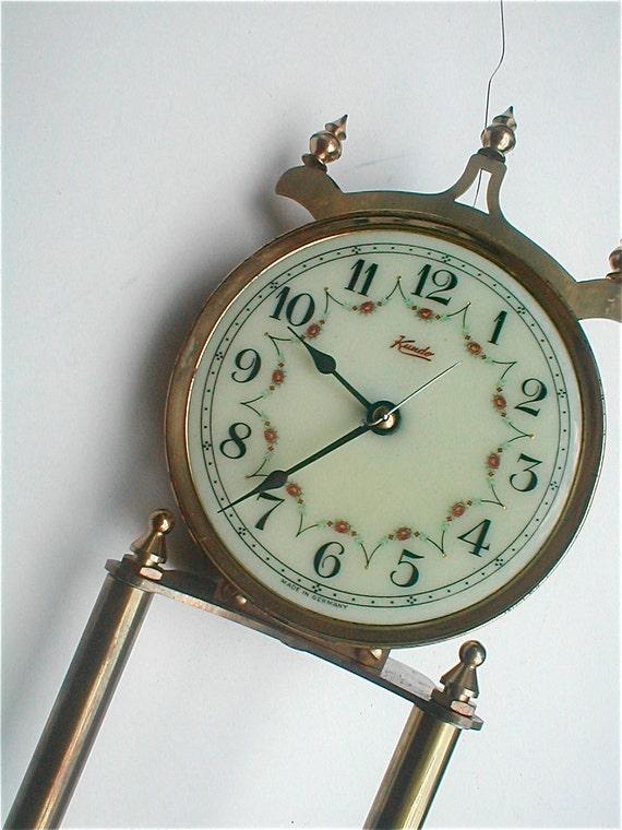 Kundo Clock Parts - Vintage 60s - 400 Hundred Day Clock Needs New Life - Steampunk Delight