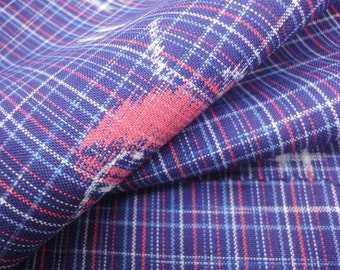 Blue Vintage Japanese wool kimono fabric panel